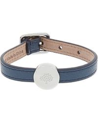 Mulberry | Blue Tree Bead Leather Bracelet - For Women | Lyst