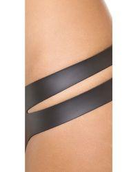 Indah Gimlet Bikini Bottoms Black Glideskin