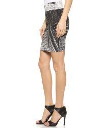 Helmut Lang - Method Print Skirt - Black Multi - Lyst