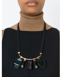 Marni | Black Multiple Pendant Necklace | Lyst