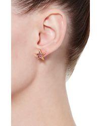Oscar de la Renta - Red Crystal Stars Cuff And Earrings Duo - Lyst