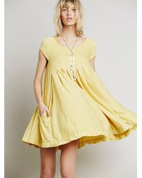 Free People | Yellow Womens Strawberry Swing Mini | Lyst