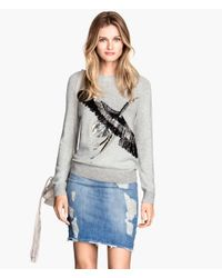 H&M Gray Jumper With Sequins