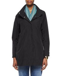 Eileen Fisher | Black Ako Hooded A-line Jacket | Lyst