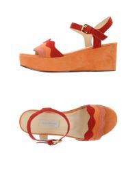 L'Autre Chose | Orange Sandals | Lyst