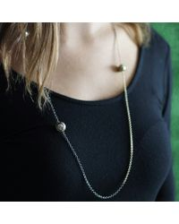 Todd Reed - White Tahitian Pearl And Black Diamond Station Necklace - Lyst