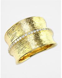 Effy | Metallic D Oro 14 Kt Gold Diamond Band | Lyst