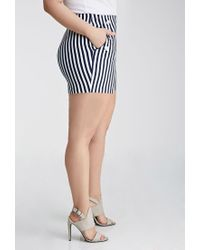 Forever 21 - Black Buttoned Nautical Stripe Shorts - Lyst