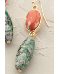 Anthropologie | Green Mykonos Lapis Earrings | Lyst