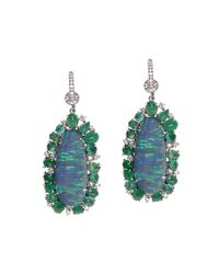 Nina Runsdorf | Blue Multi-stone Earrings | Lyst