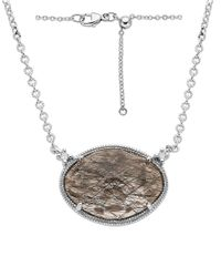 Lord & Taylor | Multicolor Sterling Silver Rutilated Quartz And Diamond Necklace | Lyst