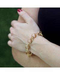 Federica Rettore | Metallic Gold Link Bracelet | Lyst