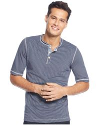 Weatherproof | Blue Short-sleeve Henley Shirt for Men | Lyst