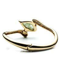 Alexis Bittar | Metallic Liquid Gold Small Infinity Hinge Bracelet In Aquamarine Hydro Quartz | Lyst