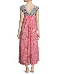 Oscar de la Renta - Multicolor Printed Satin Sweetheart Gown - Lyst