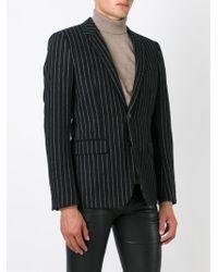 Saint Laurent Blue Striped Blazer for men