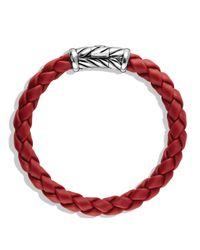 David Yurman Metallic Chevron Bracelet In Red for men