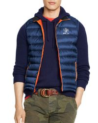 Ralph Lauren | Blue Polo Rlx Explorer Down Vest for Men | Lyst