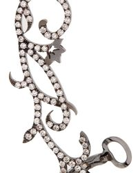 Diane Kordas - Diamond & Black-gold Vine Ear Cuff - Lyst