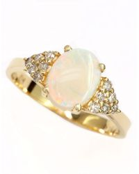 Effy | Metallic 14kt. Yellow Gold Opal And Diamond Ring | Lyst