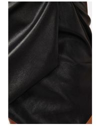 Missguided - Black Mavise Leatherette Strappy Skort Playsuit - Lyst