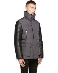 Mackage Gray Grey And Black Down Classic Gavin_f5 Coat for men