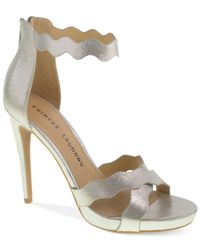 Chinese Laundry | Metallic Blossom Scalloped Platform Sandals | Lyst