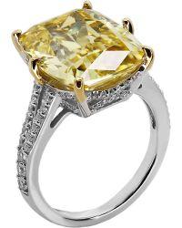 Carat* Metallic Grand Emerald 8ct Cocktail Ring