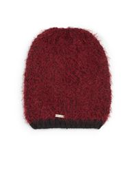 Calvin Klein | Red Two-tone Knit Beanie | Lyst