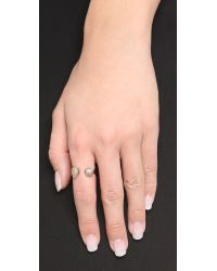 Tai - Gray Open Stone Ring - Lyst
