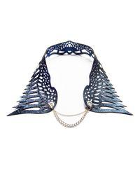 Soomin | Blue Sera Laser-Cut Leather Collar | Lyst
