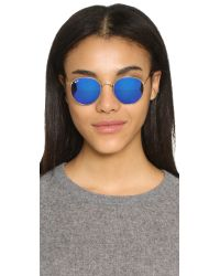 Ray-Ban - Metallic Icons Mirrored Round Sunglasses - Lyst