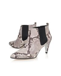 Michael Kors | Black Owen Bootsie Mid Heel Ankle Shoe Boots | Lyst