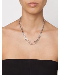 Eddie Borgo - Metallic Multi Strand Bar Necklace - Lyst