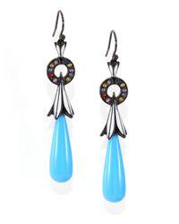 M.c.l  Matthew Campbell Laurenza | Metallic Turquoise, Sapphire & Sterling Silver Drop Earrings | Lyst