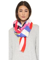 kate spade new york - Multicolor Flage Stripes Oblong Scarf - Lyst