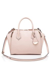 Rebecca Minkoff Pink Satchel - Wave Embossed Mini Perry