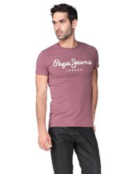 Pepe Jeans | Red Short Sleeve T-shirt for Men | Lyst