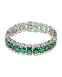 CZ by Kenneth Jay Lane | Green Bracelet | Lyst