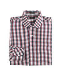 J.Crew - Blue Slim Traveler Dress Shirt in Vintage Check for Men - Lyst