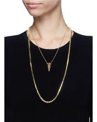 Eddie Borgo - Metallic Pavé Stud Chain And Urn Pendant Necklace Set - Lyst