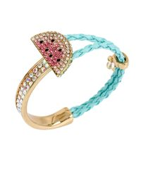 Betsey Johnson | Pink Ocean Drive Watermelon Braided Mixed Bracelet | Lyst