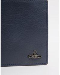 Vivienne Westwood - Blue Leather Billfold Wallet for Men - Lyst
