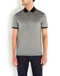 Gucci Black Monogrammed Polo Top for men