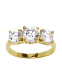 Lord & Taylor | Metallic 18kt Gold Over Sterling Silver And Cubic Zirconia Ring | Lyst