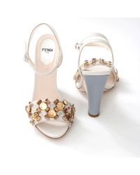 Fendi Blue Fantasia Sandal