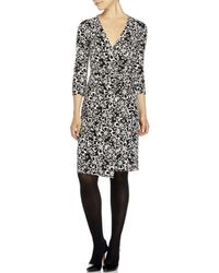 Diane von Furstenberg | Black New Julian Two Printed Wrap Dress | Lyst