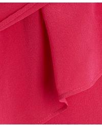 2nd Day   Pink Pleat Detail Silk Dress   Lyst