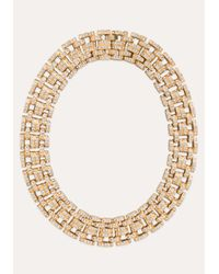 Bebe | Metallic Glitzy Link Clasp Necklace | Lyst