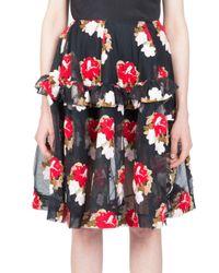 Simone Rocha - Black Embroidered Tulle Skirt - Lyst